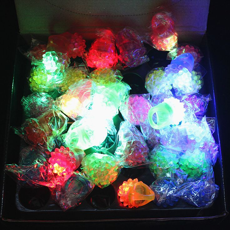 36 LED Finger Rings Dazzle Flashing Glowing Ring Soft Silicone Strawberry Colorful Lights Toys Xmas Holloween Wedding Gift Decor #Affiliate