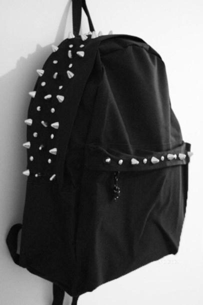 bag, black, studs