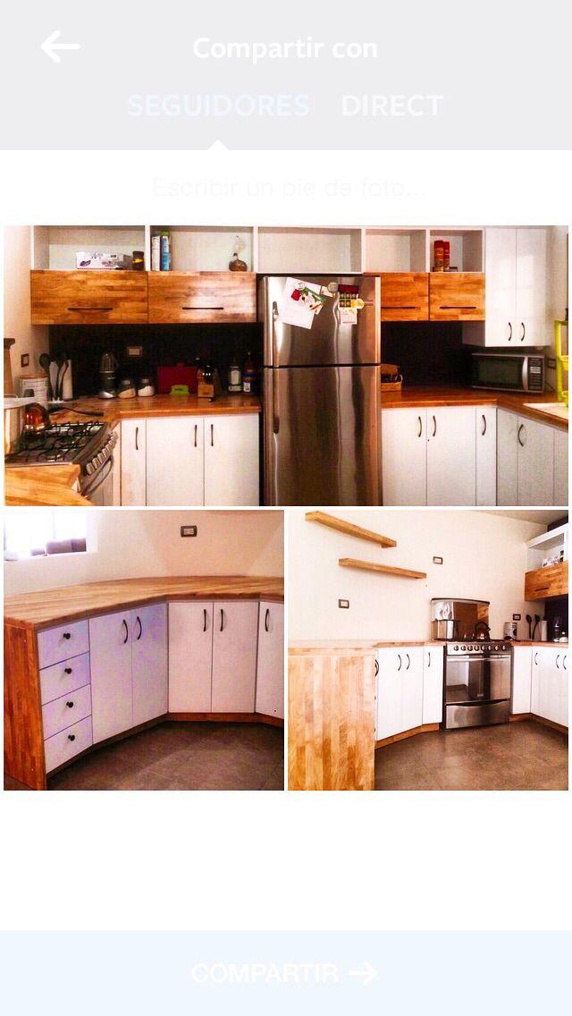 Cocina Blanca y madera..