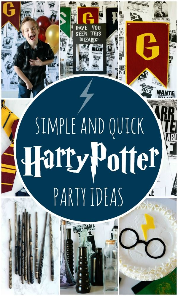 Harry Potter Party. Simple and cheap ideas for one magical event!