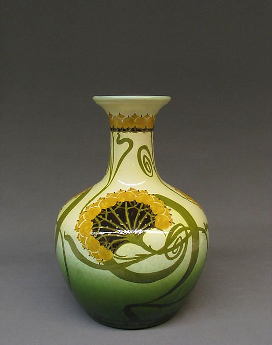 Glazed earthenware vase, Clarissa Ault, ca. 1890. Collection of Metropolitan Museum of Art, New York | JV