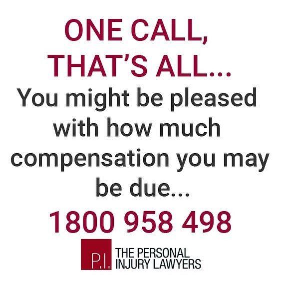 One call and you might be very pleased with how much compensation you might receive for your injuries. CALL FREE 1800 958 498  #injury #help #lawyers #legal #personalinjury #personalinjurylawyers #goldcoast #brisbane #australia #compensation #illnesses #complications #workinjury #accident #backinjuries #motoraccident #roadaccidents #rehabilitation #rehab #neckinjury #witnesses #queensland #workinjury