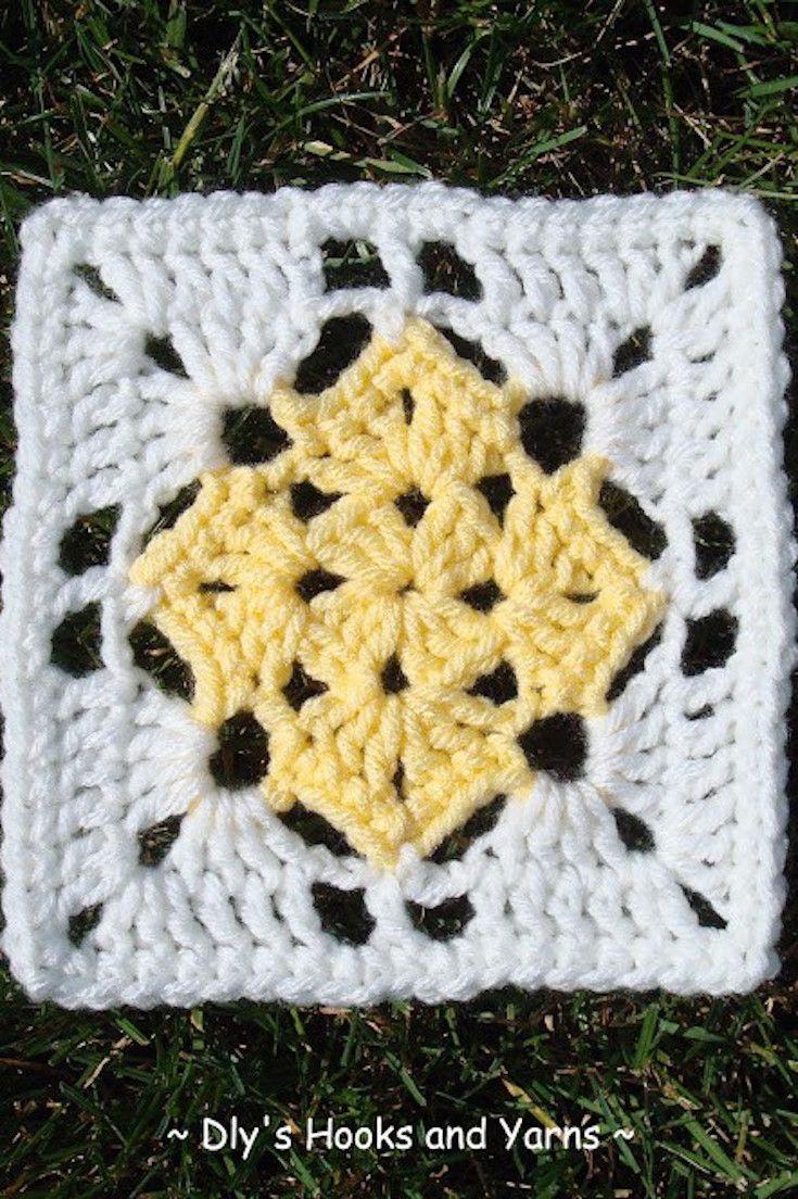 [Free Crochet Pattern] Brilliant Square In A Square Crochet Pattern