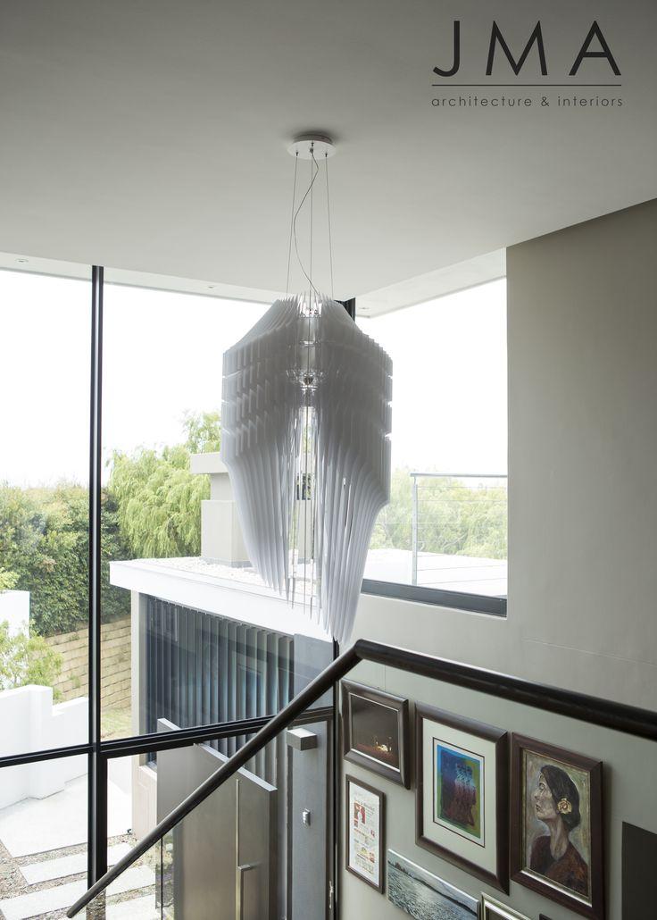 Entrance chandelier.