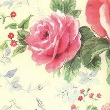 Romantic Pink Roses Italian Paper ~ Kartos Italy