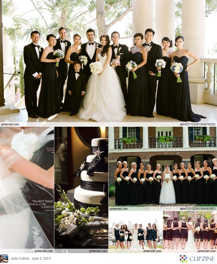 Black + White Weddings.. I spy @Jennifer Wright