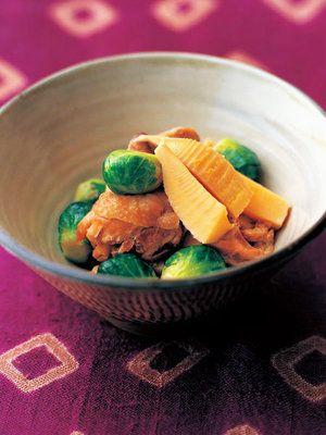 【ELLE a table】芽キャベツ、たけのこ、鶏肉の煮物レシピ|エル・オンライン