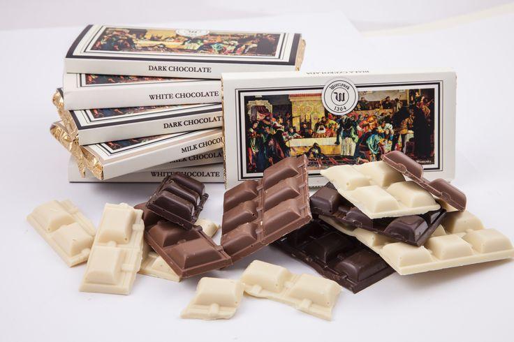 white, milk, dark chocolate