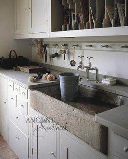 Mediterranean Kitchen Stone Sink - mediterranean - kitchen sinks - new york - by Ancient Surfaces