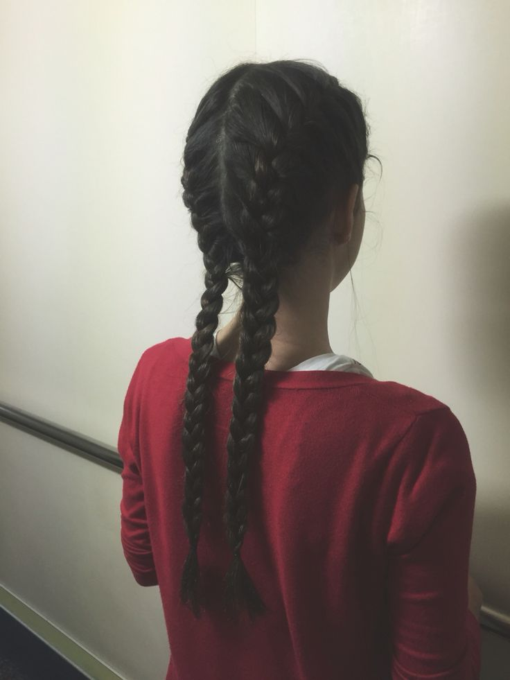 The perfect hairstyle for dirty hair day! Make two simple French braids and you're ready to go!  •Dbraids•