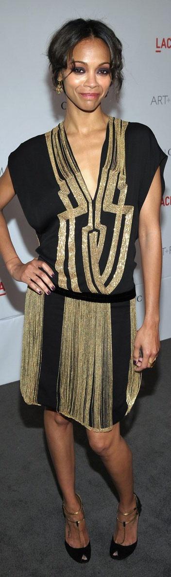 Zoe saldana dress party dresses pinterest