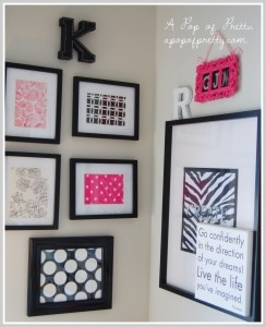 A cute way to decorate with scrapbook paper. Have a favorite #digitalscrapbooking kit? Use those papers to decorate your room!