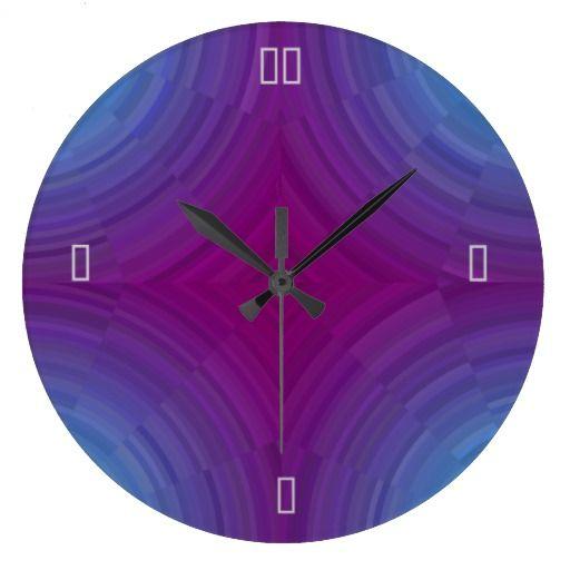 Pretty Atmospheric Blue Purple  >Wall Clocks