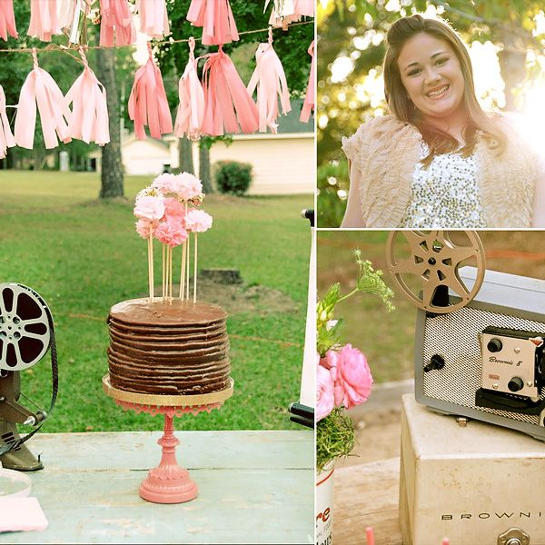Sparkly Vintage Movie Night 13th Birthday.  13 going on 30 movie night.  Darling party and great theme for 13!!!