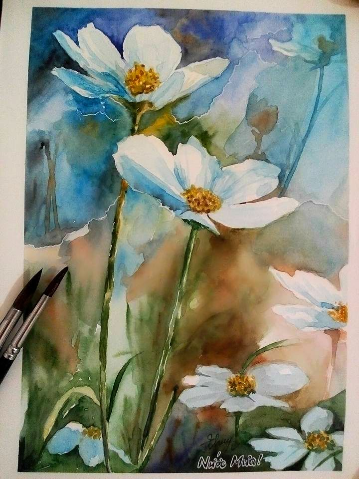 #watercolor  #flower https://www.facebook.com/thuy.vu.319