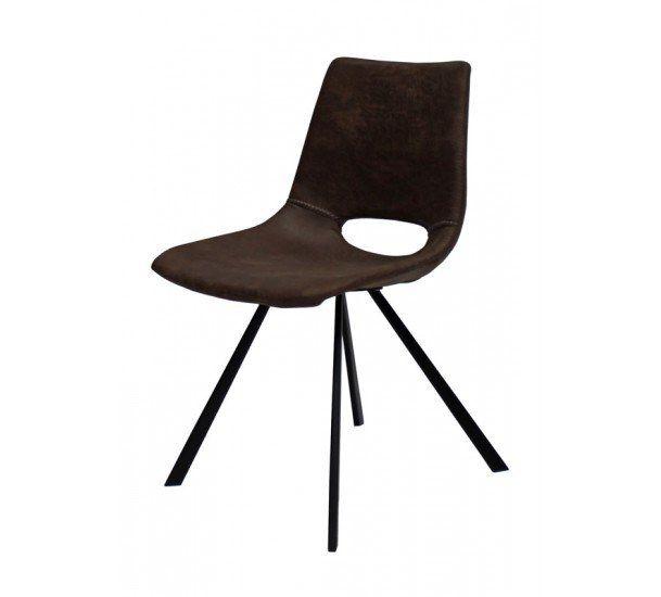 Wayne Spisebordsstol i mørkebrun - Gratis fragt