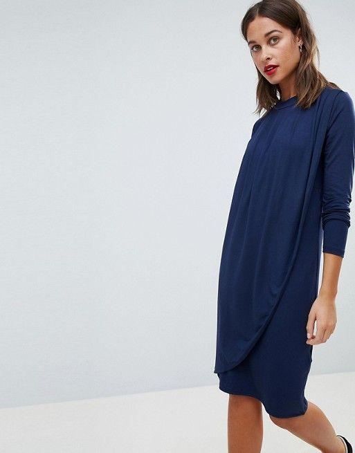 a2d5320155123 Mamalicious Nursing Drape Front Jersey Dress   Pregnant clothes ...