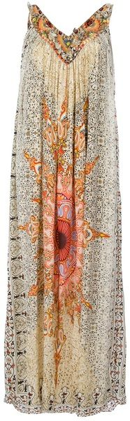 Camilla Multicolor Patterned Pleated Dress