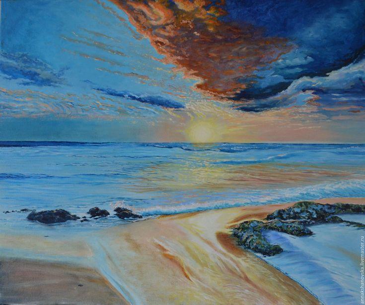 """Купить Картина """"Набежавшая волна"""" - пейзаж, картина, картину, Живопись, анна кшановская-орлова"""