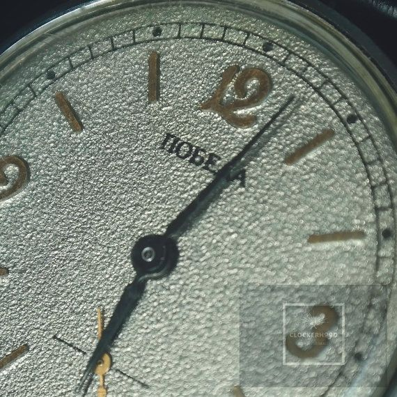 PODEBA, ex USSR watch pearl & sand color dial from 1970's