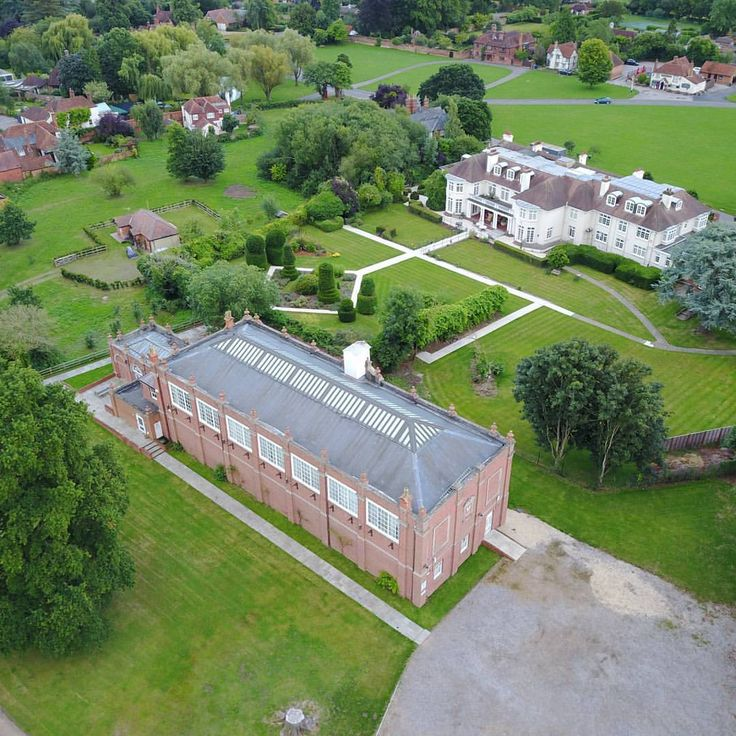 Holyport Real Tennis Club from above