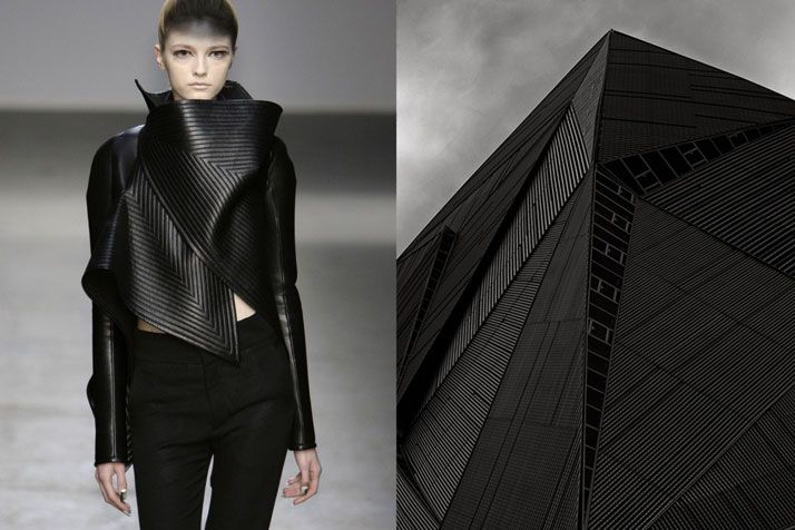 Gareth Pugh RTW Fall 2010 | Building in Singapore photographed by HAFIZUDDIEN JU