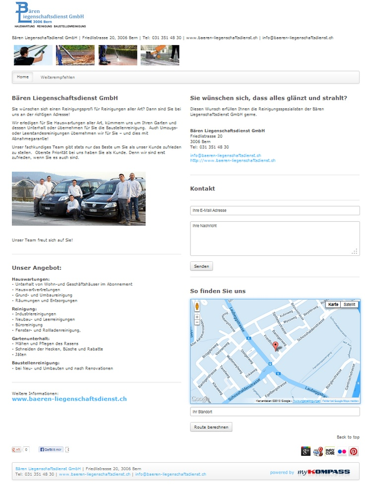Bären Liegenschaftsdienst GmbH, Hauswartungen, Bern, Baustellenreinigung, Industriereinigungen, Gartenunterhalt, Liegenschaftsdienst