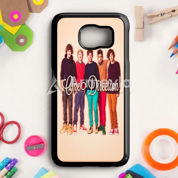 1D One Direction Logo Pink Flower Samsung Galaxy S6 Edge Case | armeyla.com
