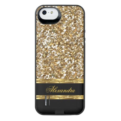 gold iphone 5 case black and gold faux glitter iphone se 5 5s battery 14202