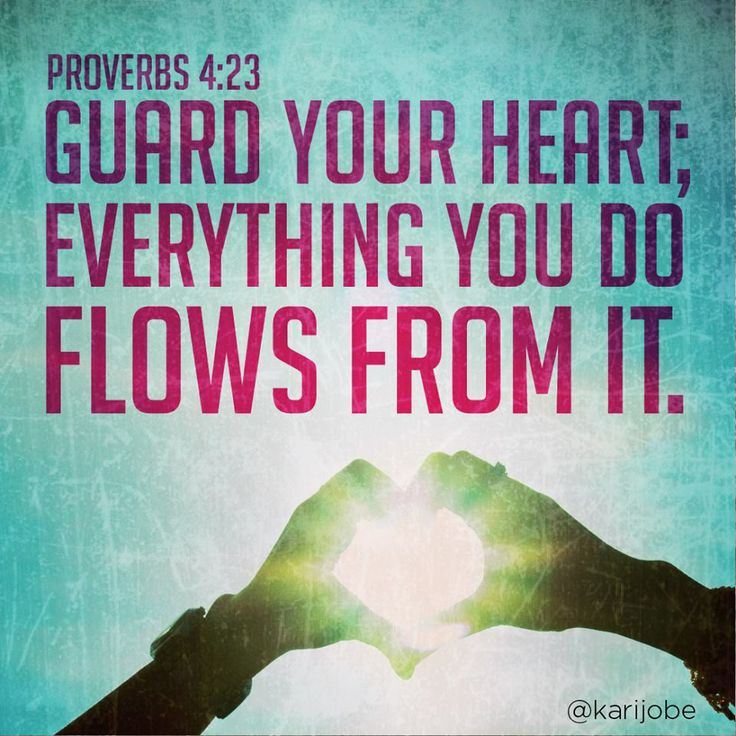 <3 <3 Proverbs 4:23 <3 <3 I realize I've probably pinned this verse before, but it's so relevant to all of us, especially single girls. To every girl who may read this: Guard your heart and your purity, for they are both so very valuable! Entrust your heart to your Creator instead of an immature guy and I promise you that you will never regret it! All you truly need is to delight in the Lord!
