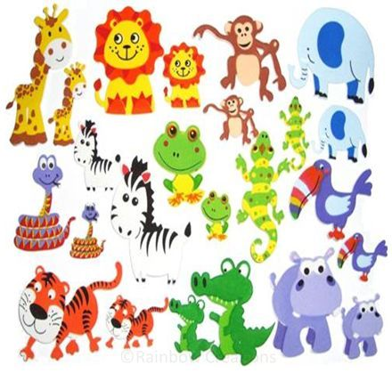 Foam Animals - Animal Stickers
