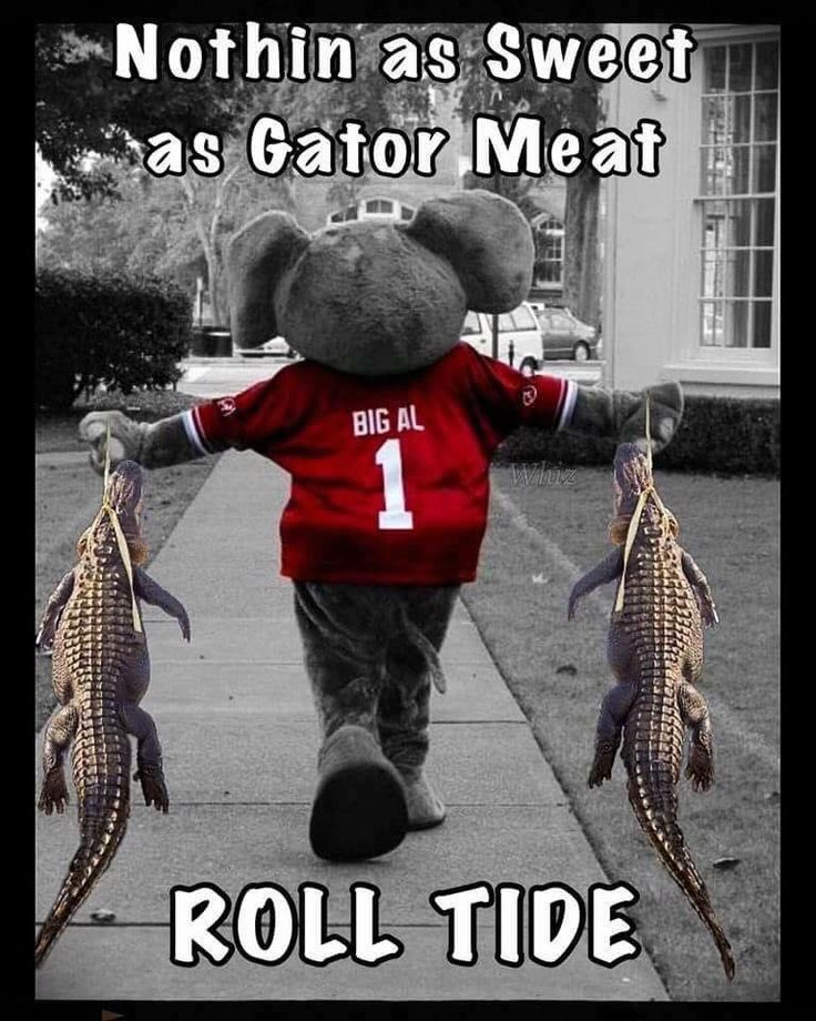 Roll Tide. #gators