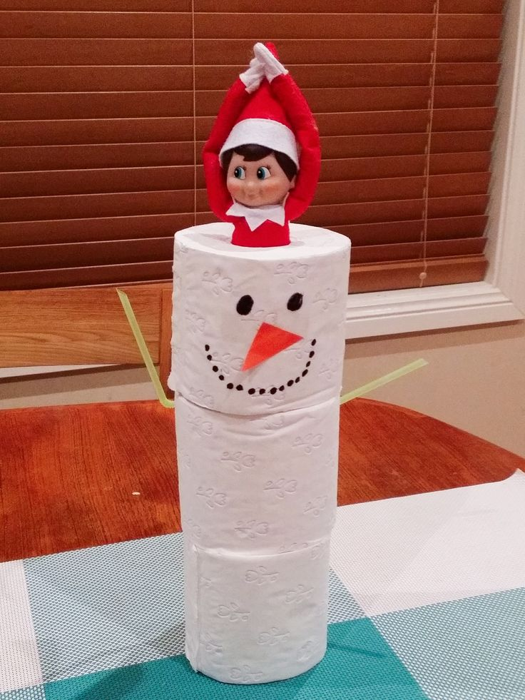 Elf on the shelf. Jingle Elf wanted to build a snowman!