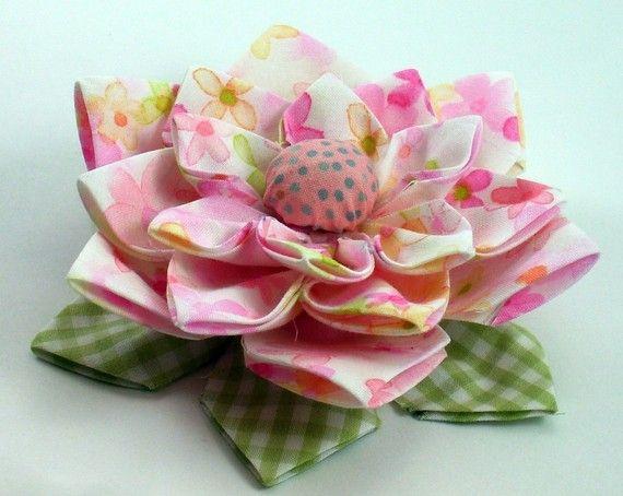 Lotus Fabric Flower Tutorial PDF  Flower Pattern no by aSundayGirl, $6.00