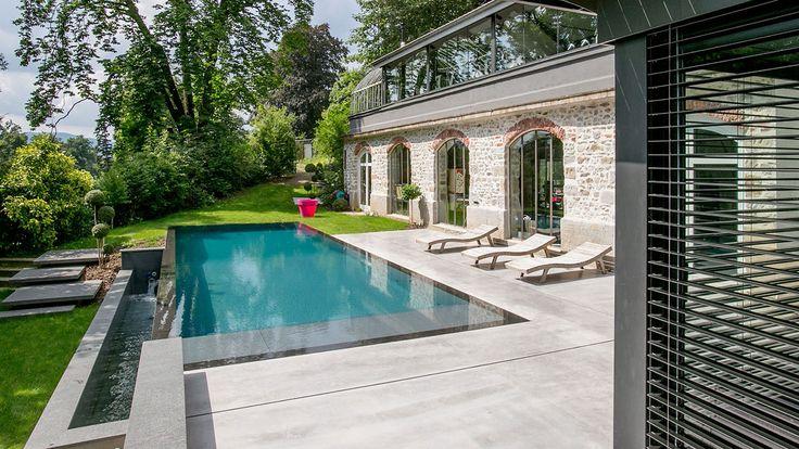 34 best piscines miroir images on pinterest staircases for Piscine fond miroir