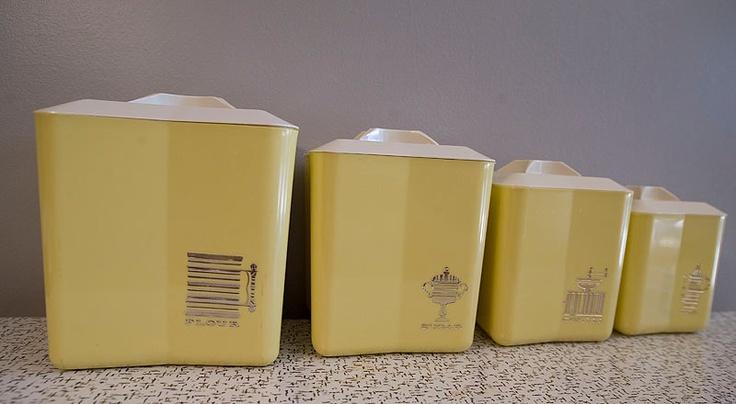 42 best vintage canisters images on vintage
