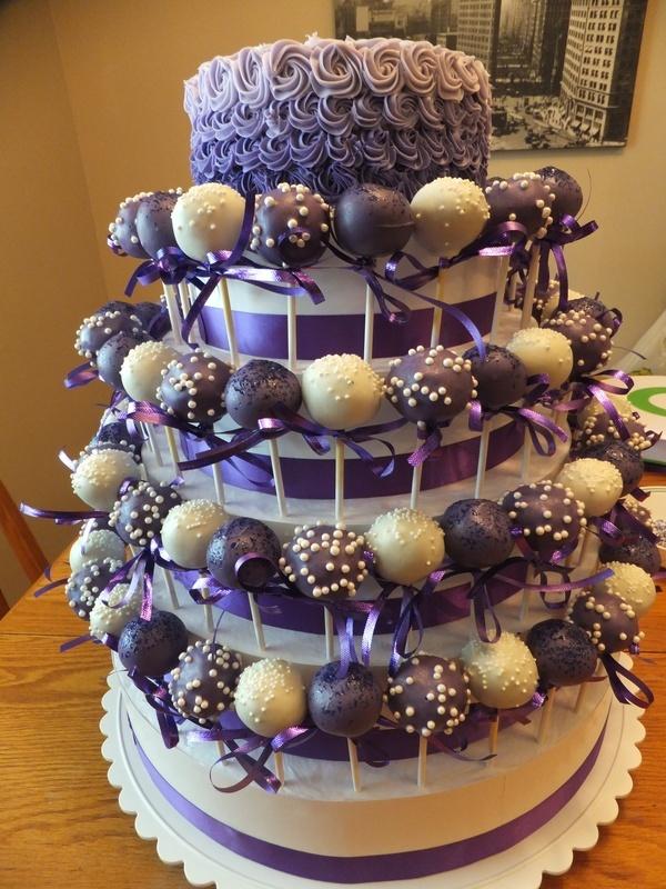Cake Pop Wedding Omg Annette Look How Purple It Is