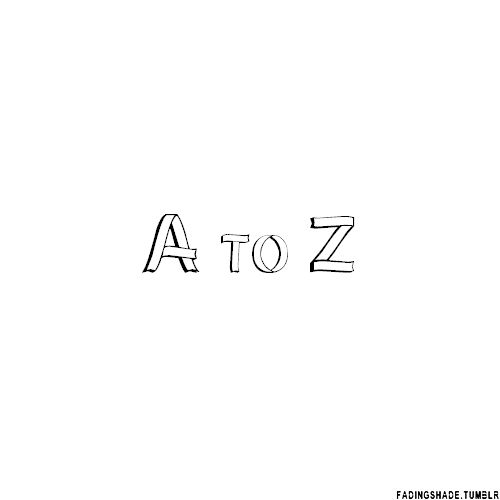 Harry Potter A to Z (gif.) ... admittedly the z was a bit of a cop out
