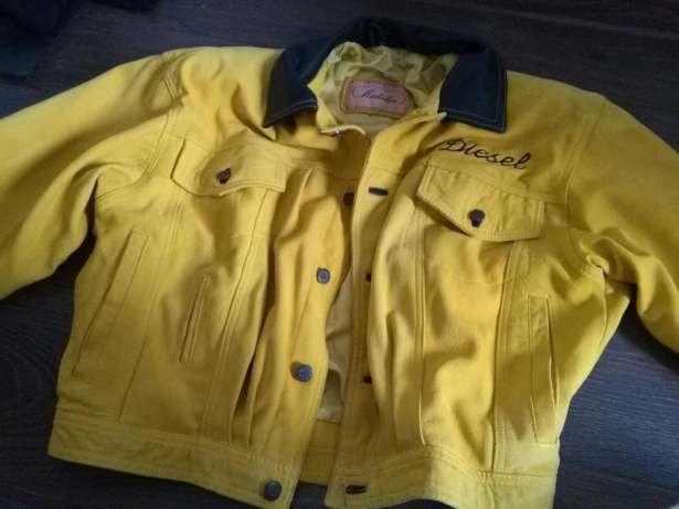 DIESEL Jacket vintage yellow sheepskin by SweetSpicyVintage on Etsy