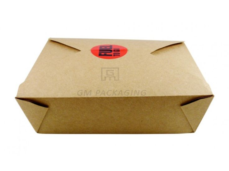 Brown Kraft Food Boxes-No.2  Leak resistant: holds foods, sauces and gravies. Lightweight board. Poly-coated interior with clay-coated exterior.