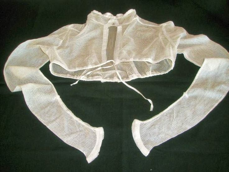 A dainty white net spencer, dating to about 1815, petite lady or girl