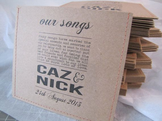 100 personalized cd sleeve wedding favor ANY COLOR by megasmiles, $150.00