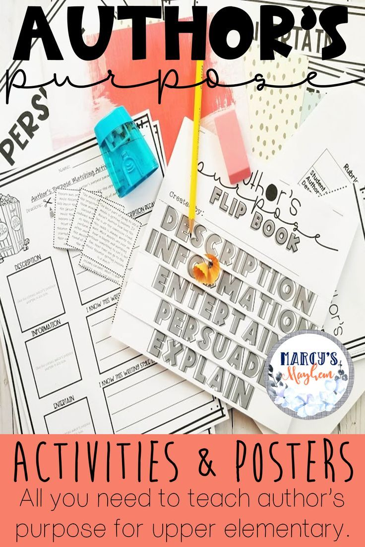 These Authors Purpose Activities Are Great To Show Your 3rd Grade 4th Grade And 5th Gra Authors Purpose Authors Purpose Activities Author S Purpose Worksheet