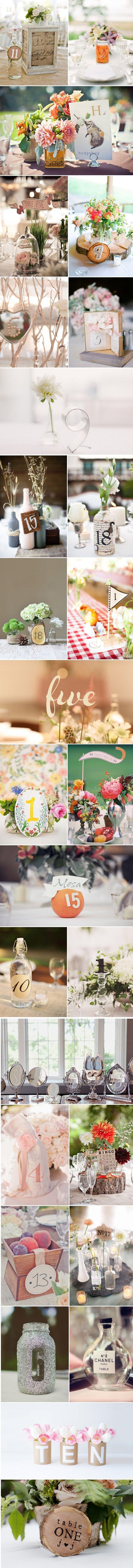 Tafelnummers bruiloft