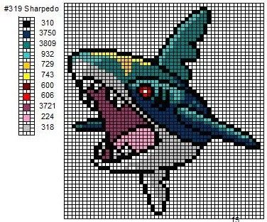 Crochet Fanatic: Pokemon 311-321: Plusle, Minun, Volbeat, Illumise, Roselia, Gulpin, Swalot, Carvanha, Sharpedo, Wailmer, & Wailord