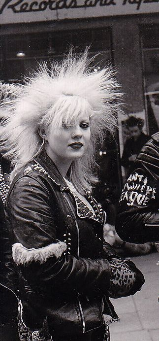 Girl in front of a Virgin Records store inBristol (UK), 1980 [Photo by Simon Edwards], Postpunk Project