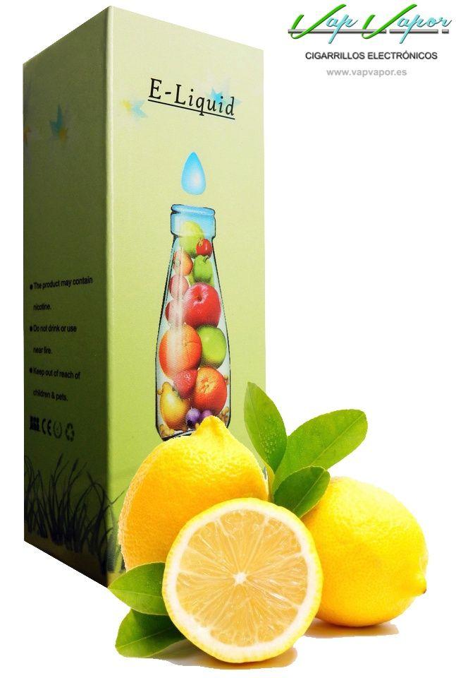 e-liquid Limón  http://www.vapvapor.es/liquido-frutas-cigarrillo-electronico  Líquidos para cigarrillos electrónicos de la marca e-liquid. Nuestra marca e-liquid se caracteriza por su gran variedad de aromas y sabores.     - e-liquid sabor Limón      - sabor similar a lima limón     - Categoría: frutas