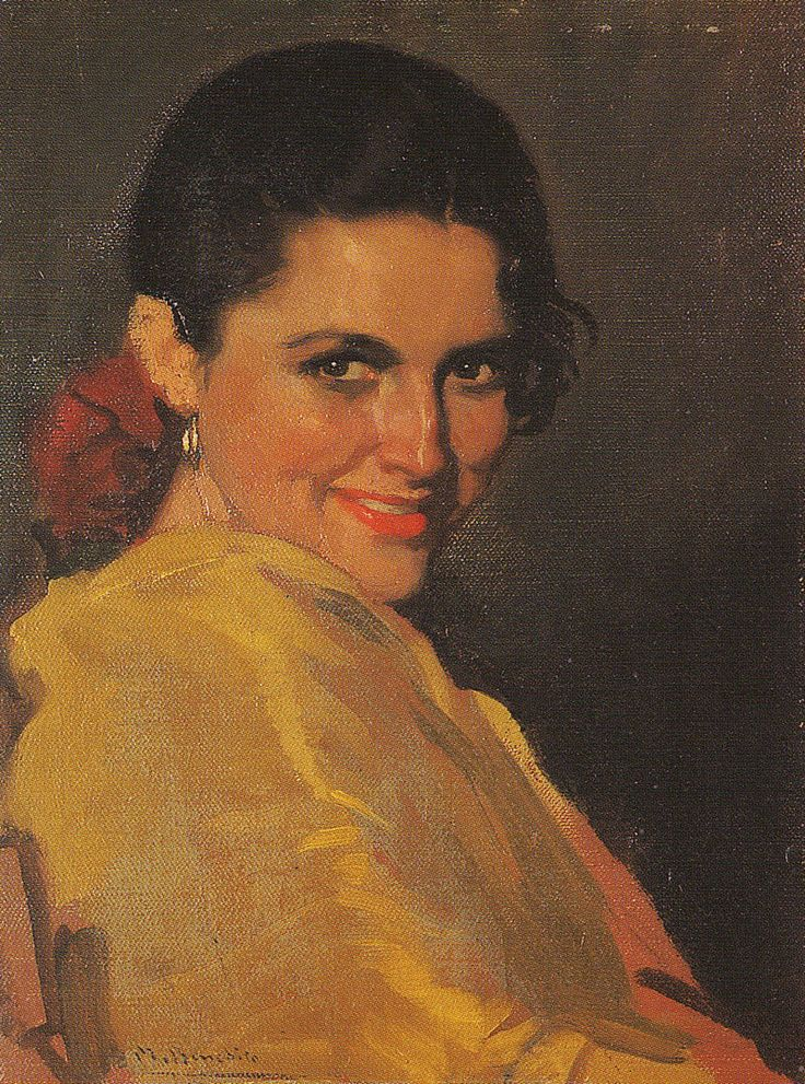 Woman Portrait   painted by Manuel Benedito Vives
