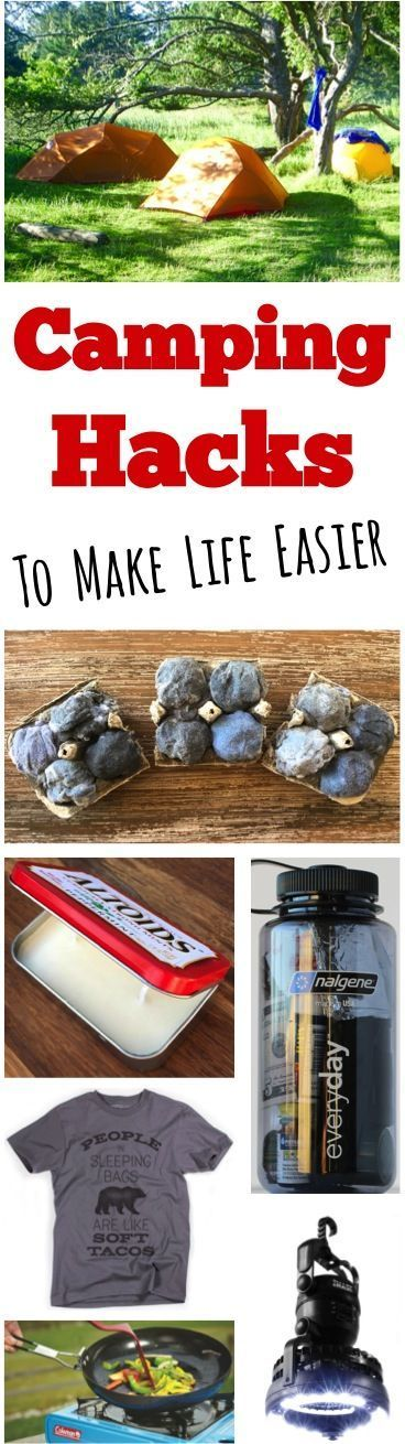Camping Hacks that are Borderline Genius!!  Make life easier on your next campout with these EASY ideas for camping food, creative solutions, and more!
