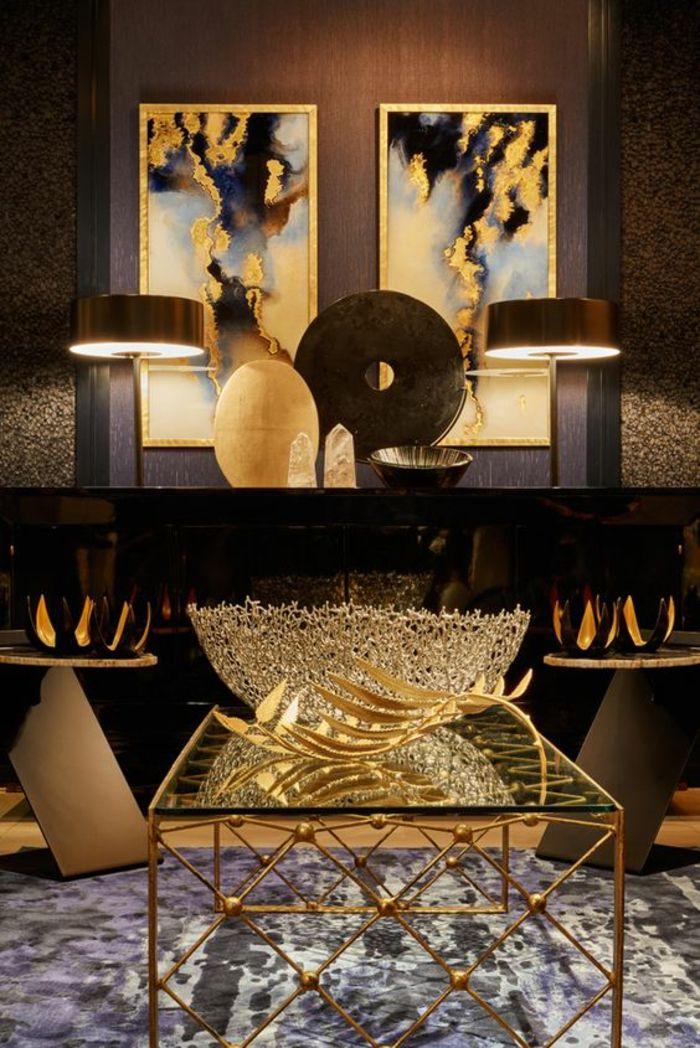 Salon Moderne De Luxe Ambiance Chic Table Art D 233 Co